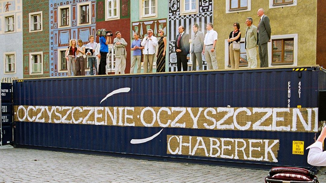 Poznań, Stary Rynek. Inauguracja Międzynarodowego Festiwalu Teatralnego