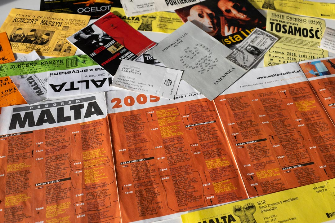 Papierowy program festiwalu Malta