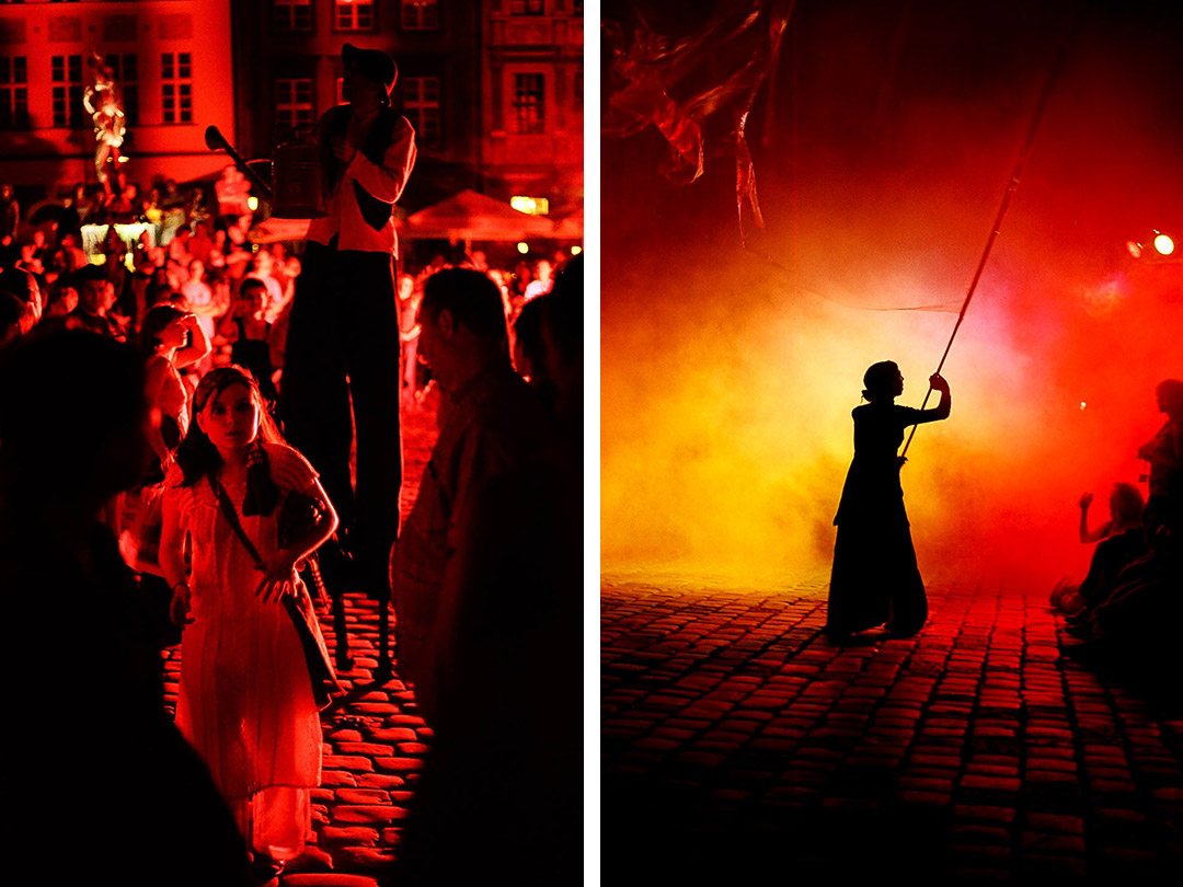Spektakl na Starym Rynku w Poznaniu podczas Międzynarodowego Festiwalu Teatralnego Malta 2005